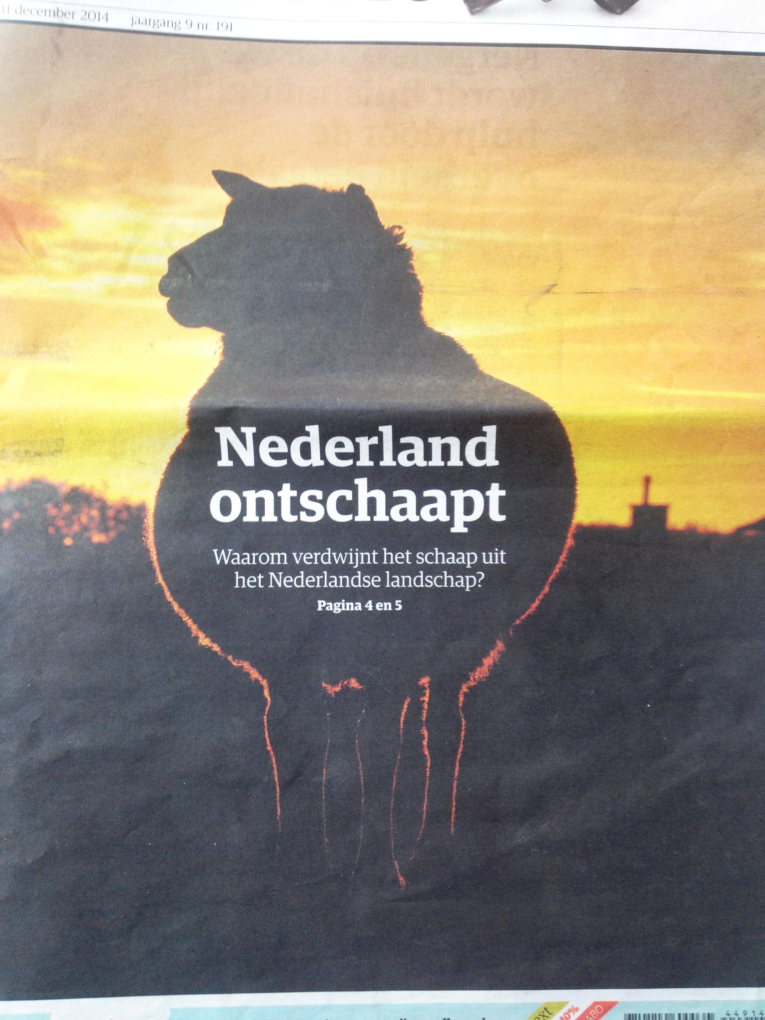 Nederland ontschaapt.